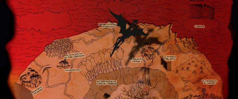 dragon sobre el palacio de ambara - calamburia