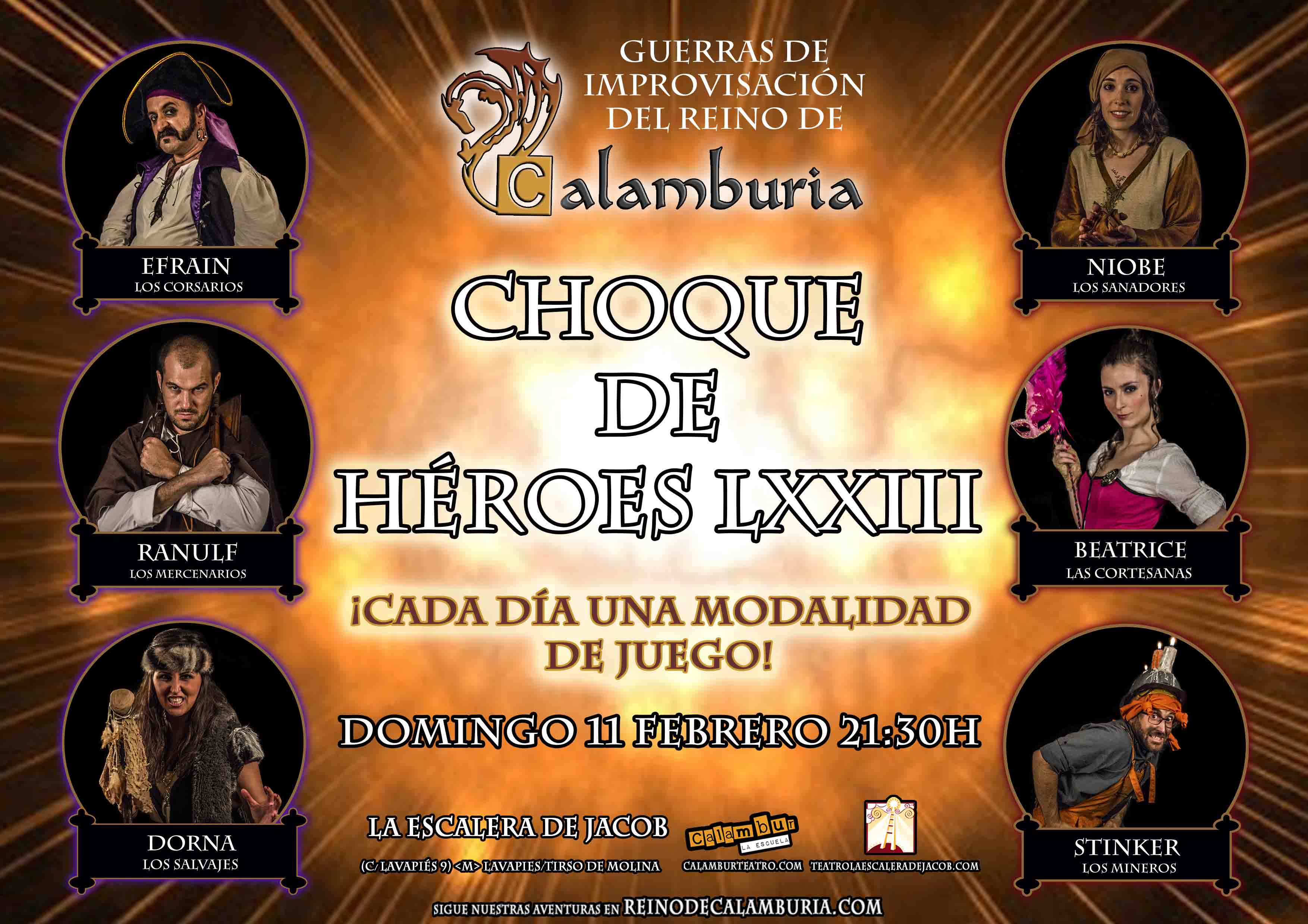 CHOQUE DE HEROES 73